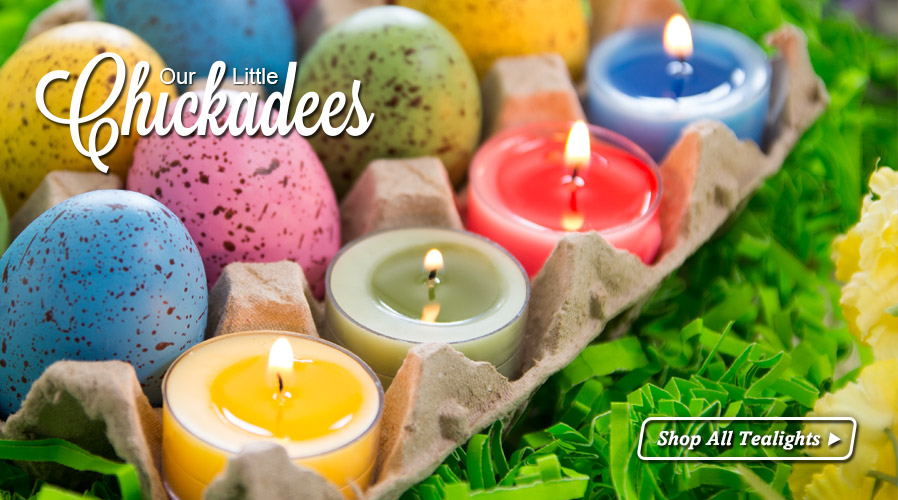 Our little chickadees!  Shop all tealight candles...