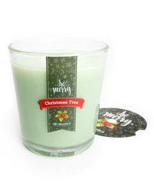Christmas Tree Holiday Candle Tumbler with Gift Box