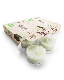 Eucalyptus Leaf Tealight Candles 12-Pack