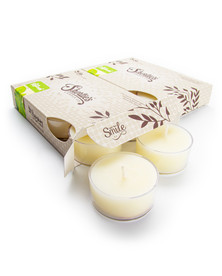 Fresh Peppermint Tealight Candles 12-Pack