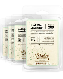 Iced Mint Lavender Wax Melts 4 Pack - Formula 117