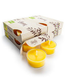 Lemongrass Tealight Candles 24-Pack