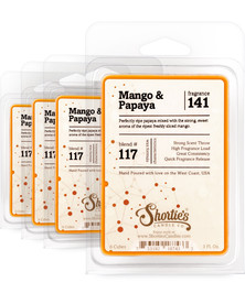Mango & Papaya Wax Melts 4 Pack - Formula 117