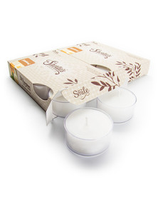 Sandalwood Tealight Candles 12-Pack