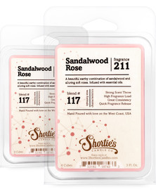 Sandalwood Rose Wax Melts 2 Pack - Formula 117