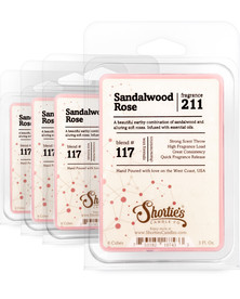 Sandalwood Rose Wax Melts 4 Pack - Formula 117