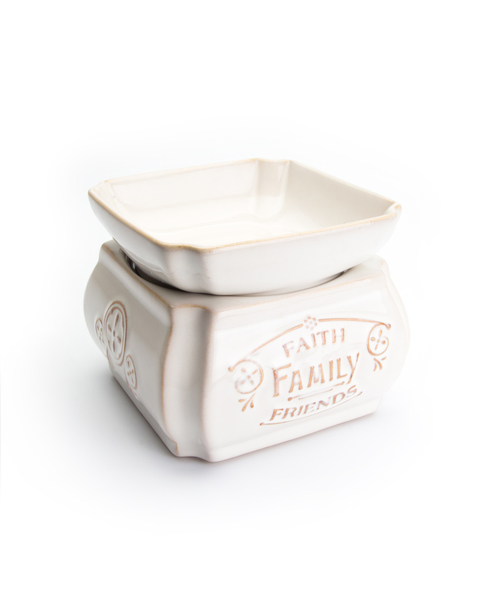Our Own Candle Company Cream Ceramic Candle and Melt Warmer