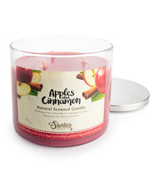 All Natural Apples and Cinnamon 3 Wick Candle