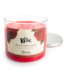 All Natural True Rose 3 Wick Candle