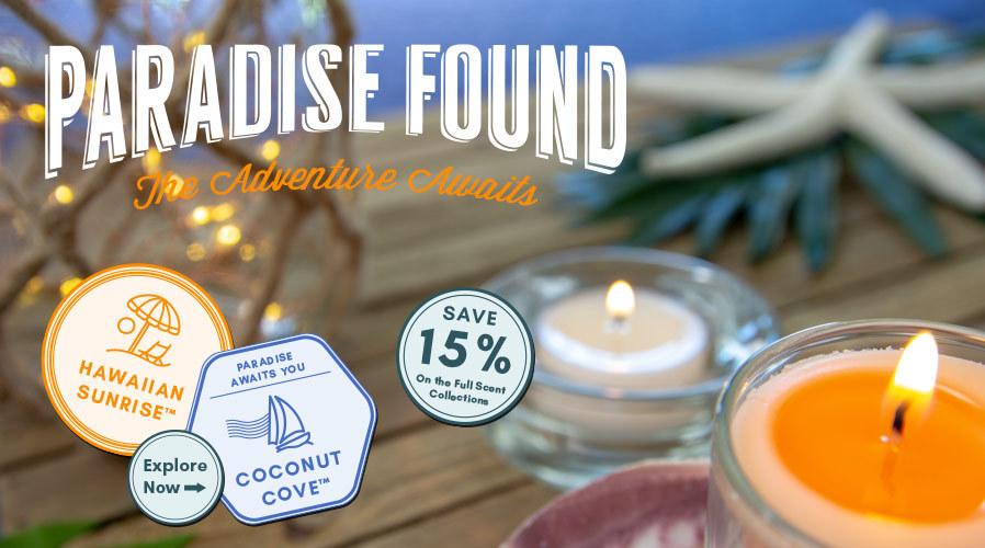 Paradise Found: 15% Off Coconut Cove™ & Hawaiian Sunrise™