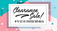 Clearance! Save 50%.