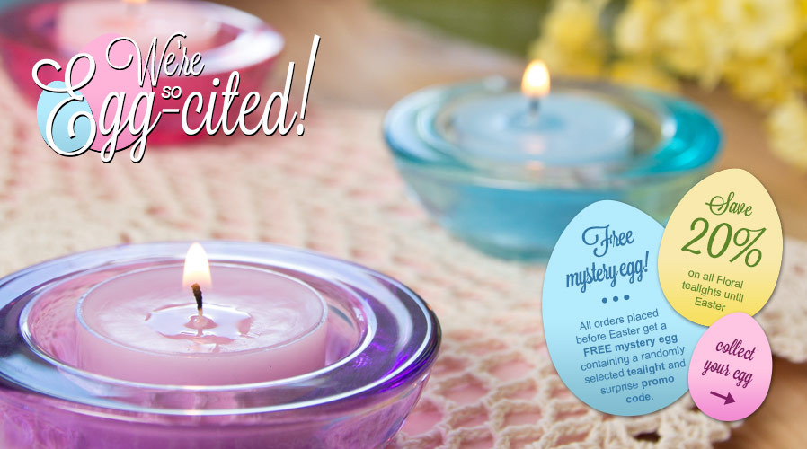 20% Off all Floral Tealights