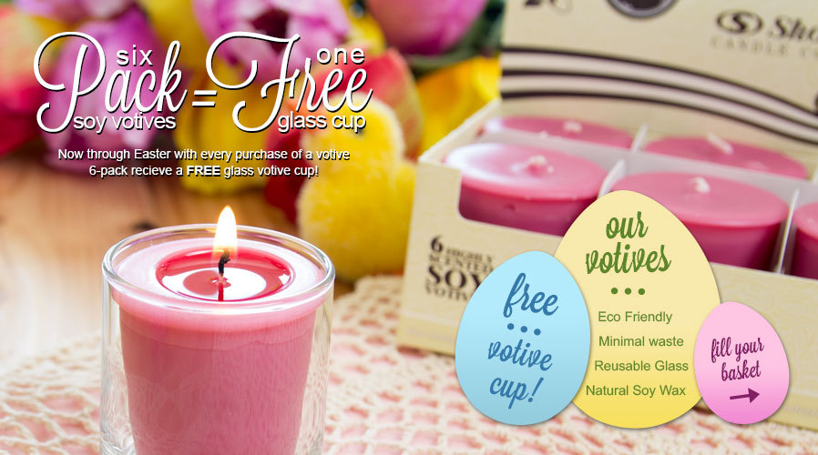 Free Glass Votive Cup w/6 Pack
